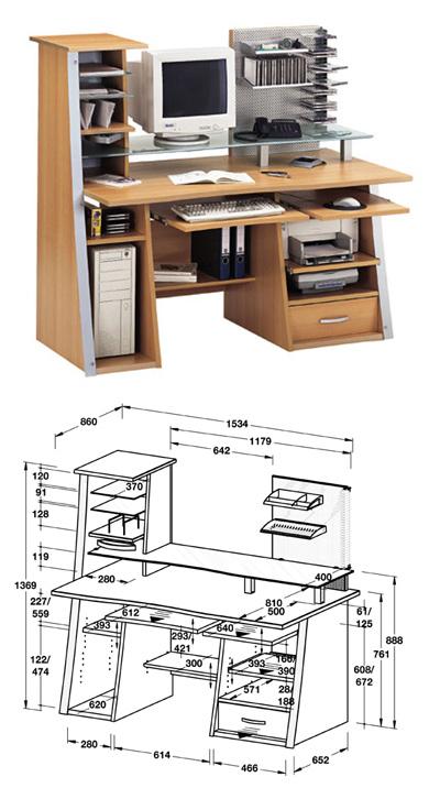 Своими руками компьютерные столы